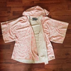 Volcom pink and tan hoodie sweater thing